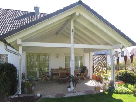carport z une terrassen holzbau ellwanger. Black Bedroom Furniture Sets. Home Design Ideas